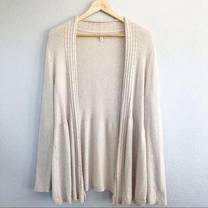 Croft & Barrow Beige Cardigan Sweater Sz XL
